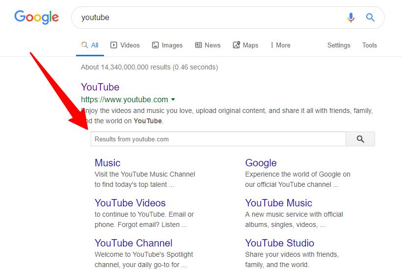 Google Search Console Sitelink searchbox