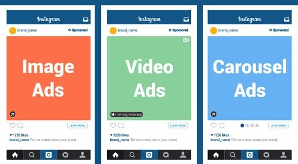 tipuri Instagram ads