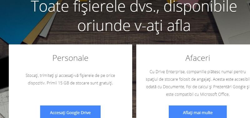 Google Drive - stocare în cloud