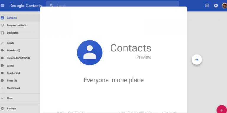 Unde gasesc contactele in contul google