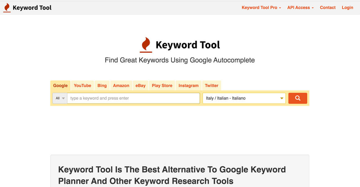 Keyword-tool cuvinte cheie
